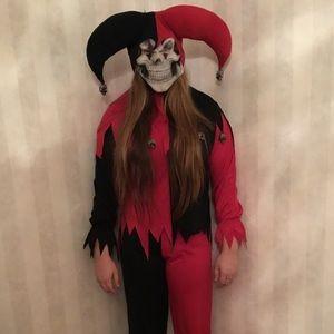 Evil Jester Costume Child L